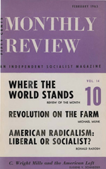Monthly Review Volume 14, Number 9 (February 1963)