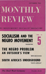 Monthly Review Volume 15, Number 4 (September 1963)