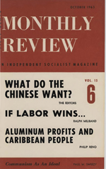Monthly Review Volume 15, Number 5 (October 1963)