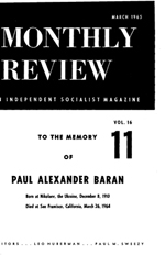 Monthly Review Volume 16, Number 10 (March 1965)