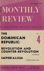 Monthly Review Volume 17, Number 4 (September 1965)