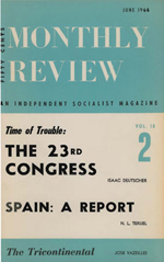 Monthly Review Volume 18, Number 2 (June 1966)