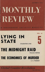 Monthly Review Volume 18, Number 5 (October 1966)