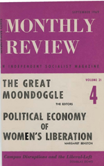 Monthly Review Volume 21, Number 4 (September 1969)