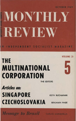 Monthly Review Volume 21, Number 5 (October 1969)