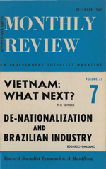 Monthly Review Volume 21, Number 7 (December 1969)