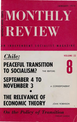 Monthly Review Volume 22, Number 8 (January 1971)