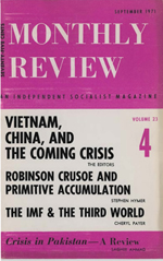 Monthly Review Volume 23, Number 4 (September 1971)