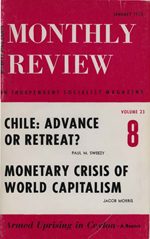 Monthly Review Volume 23, Number 8 (January 1972)