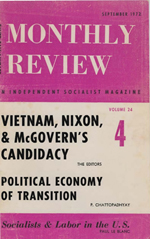 Monthly Review Volume 24, Number 4 (September 1972)