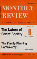 Monthly Review Volume 26, Number 6 (November 1974)