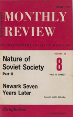 Monthly Review Volume 26, Number 8 (January 1975)