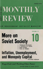 Monthly Review Volume 27, Number 10 (March 1976)