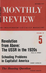 Monthly Review Volume 29, Number 5 (October 1977)