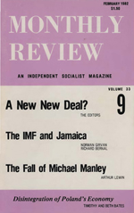 Monthly Review Volume 33, Number 9 (February 1982)