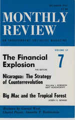 Monthly Review Volume 37, Number 7 (December 1985)