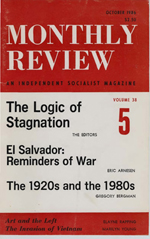 Monthly Review Volume 38, Number 5 (October 1986)