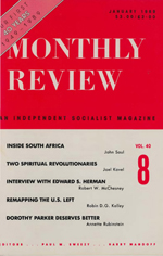 Monthly Review Volume 40, Number 8 (January 1989)