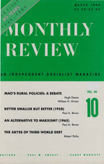 Monthly Review Volume 40, Number 10 (March 1989)