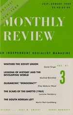 Monthly Review Volume 41, Number 3 (July-August 1989)