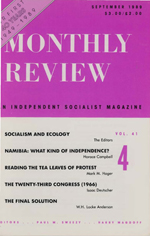 Monthly Review Volume 41, Number 4 (September 1989)