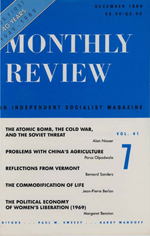 Monthly Review Volume 41, Number 7 (December 1989)
