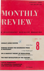 Monthly Review Volume 41, Number 8 (January 1990)