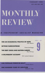 Monthly Review Volume 41, Number 9 (February 1990)