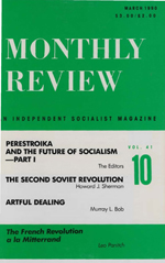 Monthly Review Volume 41, Number 10 (March 1990)