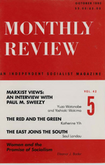 Monthly Review Volume 42, Number 5 (October 1990)