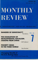 Monthly Review Volume 42, Number 7 (December 1990)
