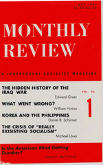 Monthly Review Volume 43, Number 1 (May 1991)