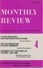 Monthly Review Volume 43, Number 4 (September 1991)