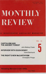 Monthly Review Volume 43, Number 5 (October 1991)