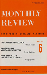 Monthly Review Volume 43, Number 6 (November 1991)