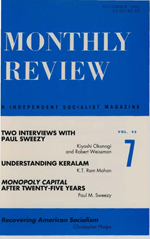 Monthly Review Volume 43, Number 7 (December 1991)