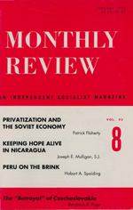 Monthly Review Volume 43, Number 8 (January 1992)