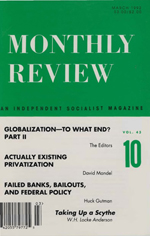 Monthly Review Volume 43, Number 10 (March 1992)