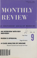 Monthly Review Volume 44, Number 9 (February 1993)