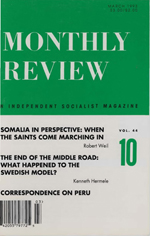Monthly Review Volume 44, Number 10 (March 1993)