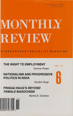Monthly Review Volume 45, Number 6 (November 1993)