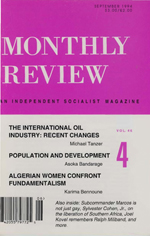 Monthly Review Volume 46, Number 4 (September 1994)