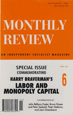 Monthly Review Volume 46, Number 6 (November 1994)