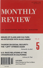 Monthly Review Volume 48, Number 5 (October 1996)