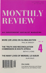 Monthly Review Volume 49, Number 4 (September 1997)