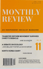 Monthly Review Volume 49, Number 11 (April 1998)
