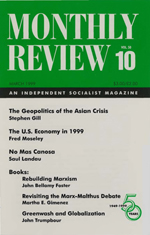 Monthly Review Volume 50, Number 10 (March 1999)