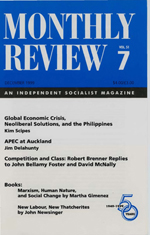 Monthly Review Volume 51, Number 7 (December 1999)
