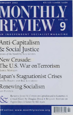 Monthly Review Volume 53, Number 9 (February 2002)