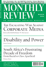 Monthly Review Volume 55, Number 10 (March 2004)